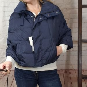 MaxMara Navy Quilted Cape